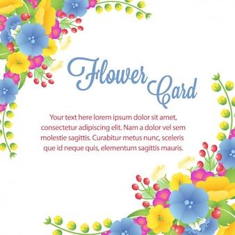 Coloured floral card design
