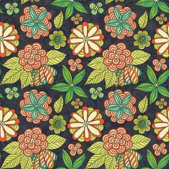 Coloured floral pattern design