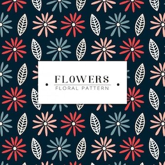 Coloured flowers pattern