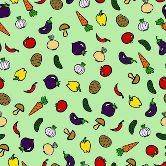 Coloured food pattern design