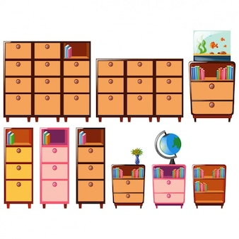 Coloured furniture collection