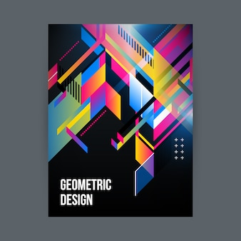 Coloured geometric design