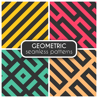 Coloured geometric seamless patterns