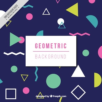 Coloured geometric shapes pattern