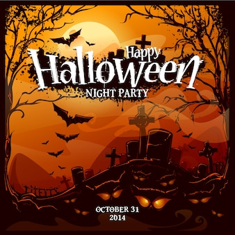 Coloured halloween background design