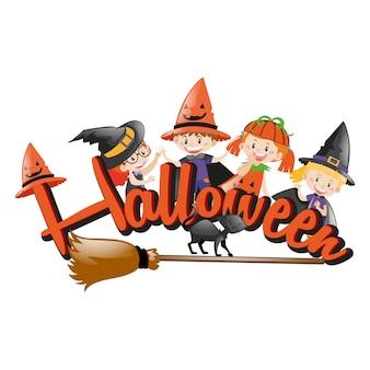 Coloured halloween design