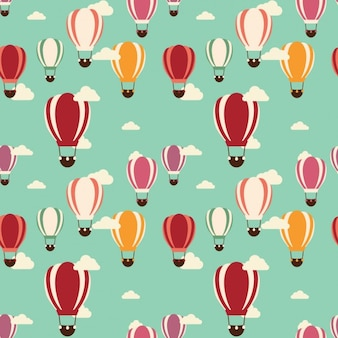 Coloured hot air balloons pattern