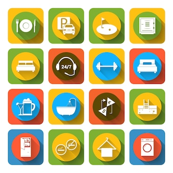 Coloured icons collection