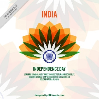 Coloured india independence background