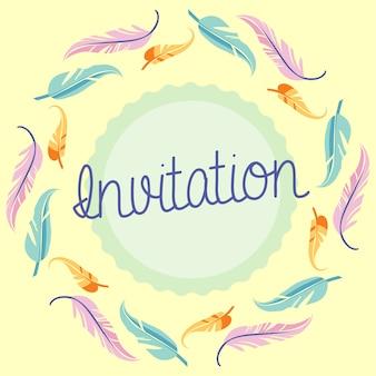 Coloured invitation design