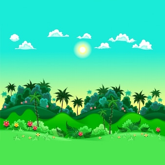 Coloured jungle background