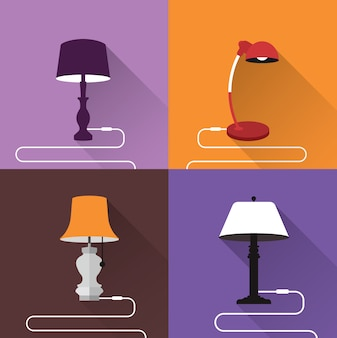 Coloured lamps collection