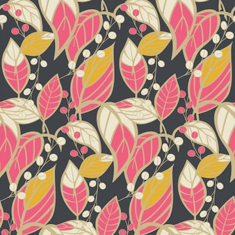 Coloured leafs pattern design