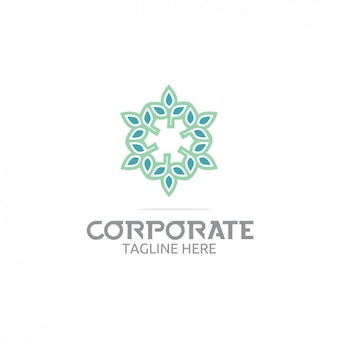 Coloured logo template design