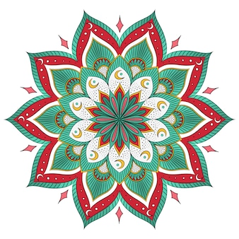 Coloured mandala adesign