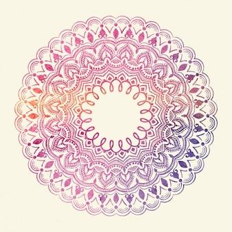 Coloured mandala design