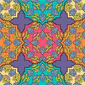 Coloured mandala pattern design