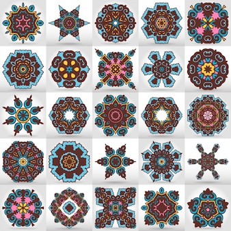 Coloured mandalas collection