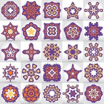 Coloured mandalas collection
