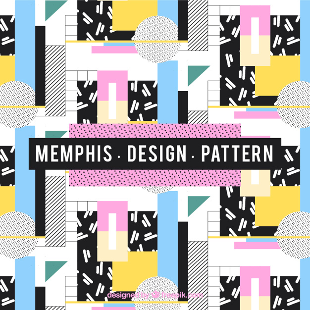 Coloured memphis style pattern