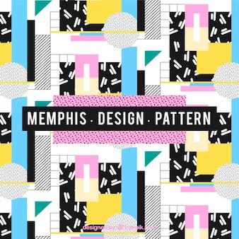 Coloured memphis style pattern