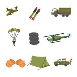 Coloured military designs