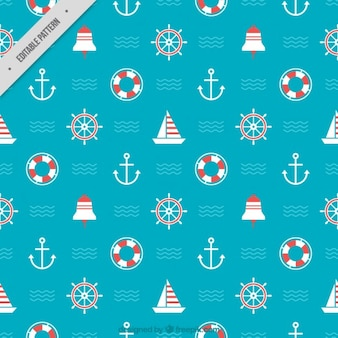 Coloured nautical pattern