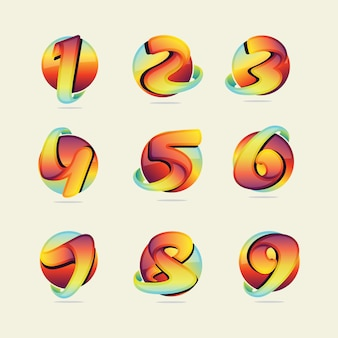 Coloured numbers collection