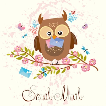 Coloured owl background