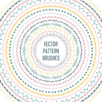 Coloured pattern brushes