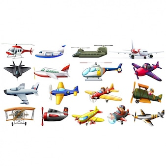 Coloured planes collection
