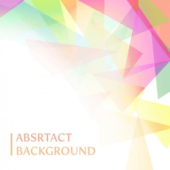 Coloured polygonal shapes background