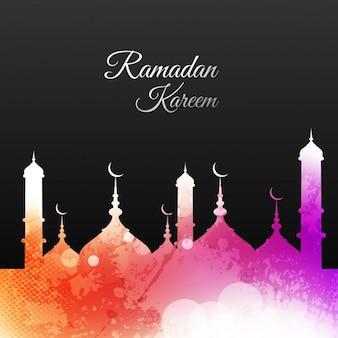 Coloured ramadan wallpaper