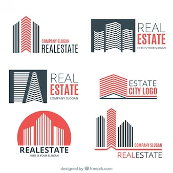 Coloured real estate logo templates