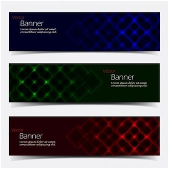 Coloured reflections banners collection