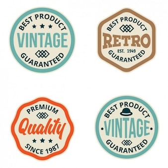 Coloured retro labels