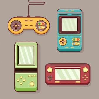 Coloured retro video games