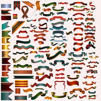 Coloured ribbons collectio