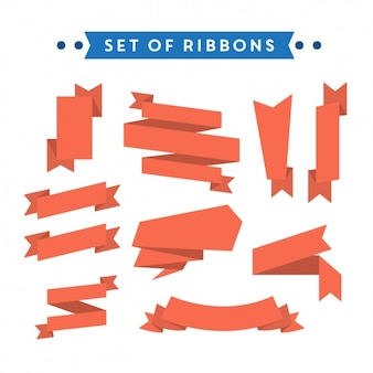 Coloured ribbons collection