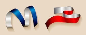 Coloured ribbons set