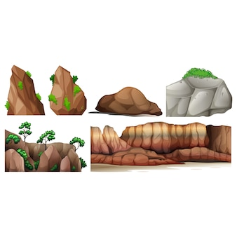 Coloured rocks collection