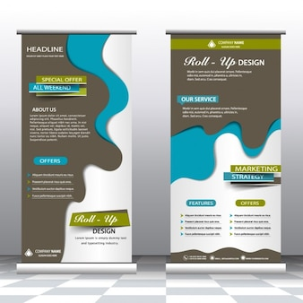 Coloured roll up mock up