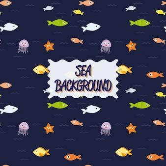 Coloured sealife background