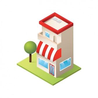 Coloured shop design