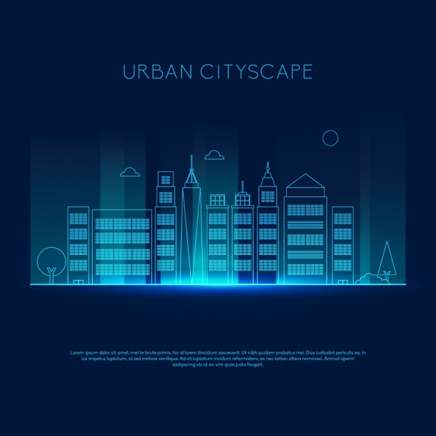Coloured skyline design