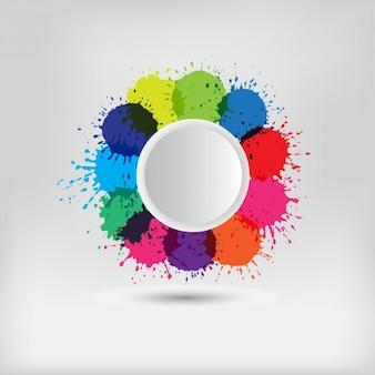 Coloured splashes background
