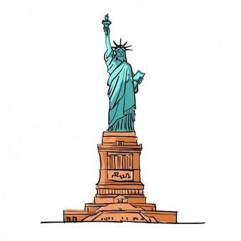 Coloured statue of liberty