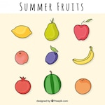 Coloured summer fruits