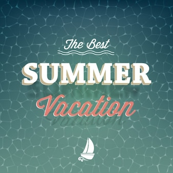 Coloured summer vacation background