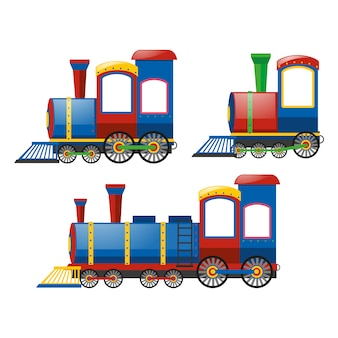 Coloured trains collection